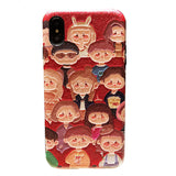BOOPDO DESIGN MULTI PEOPLE FACES EMBOSSED CARTOON APPLE IPHONE COVERS