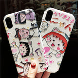 CHIBI MARUKO CHAN JAPANESE CARTOON FIGURES IPHONE APPLE PHONE CASES - boopdo