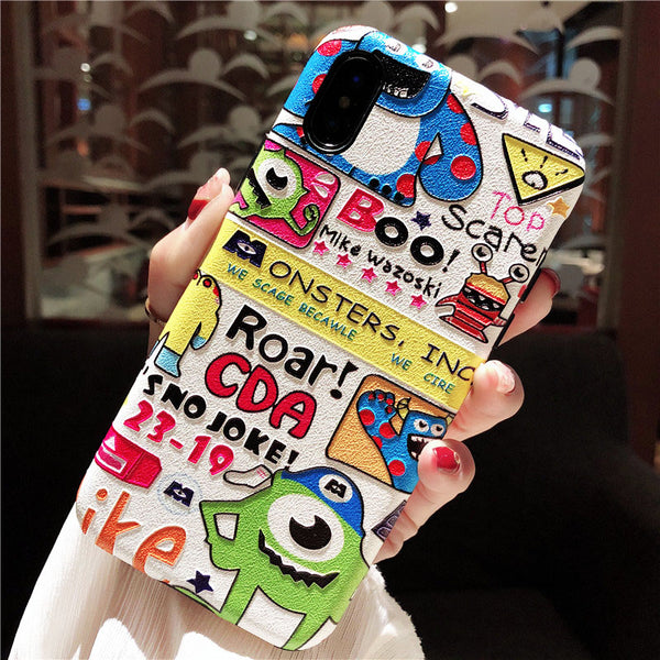 BOO MIKE MONSTERS SCAGE BECAWLE APPLE IPHONE CASES IN MULTI COLOR