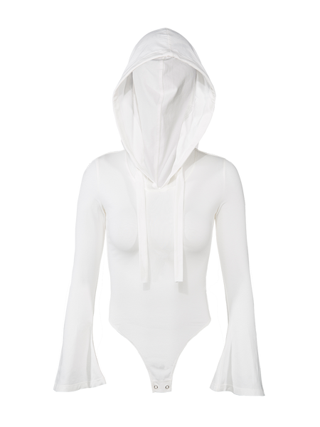 MISCHIEF LONG SLEEVE HOODED BODYSUIT - boopdo