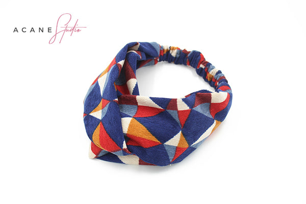 ACANE STUDIO VINTAGE LOOK COLOR BLOCK HEAD BAND - boopdo