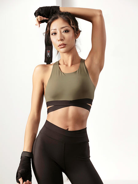 LANIKAR CROSS STRAP DESIGN SPORTS BRA