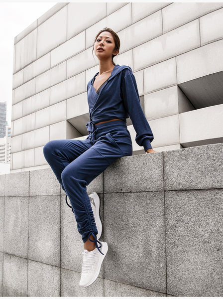 LANIKAR TRACK PANTS WITH ADJUSTABLE CUFFS