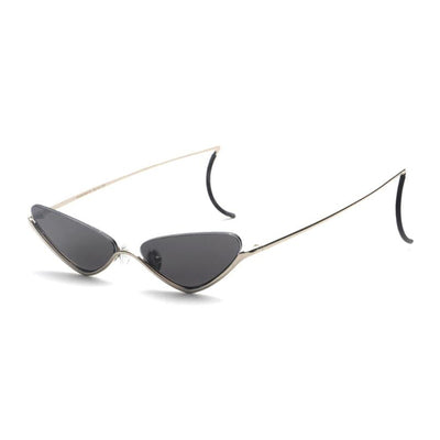 LAVOGUES CONCAVE SHAPE CAT EYES HIPSTER SUNGLASSES - boopdo