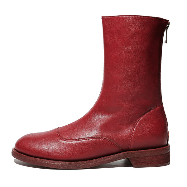 FXSO CHELSEA ANKLE BOOTS WITH ZIP FRONT DETAIL 68665 WHITE RED BLACK