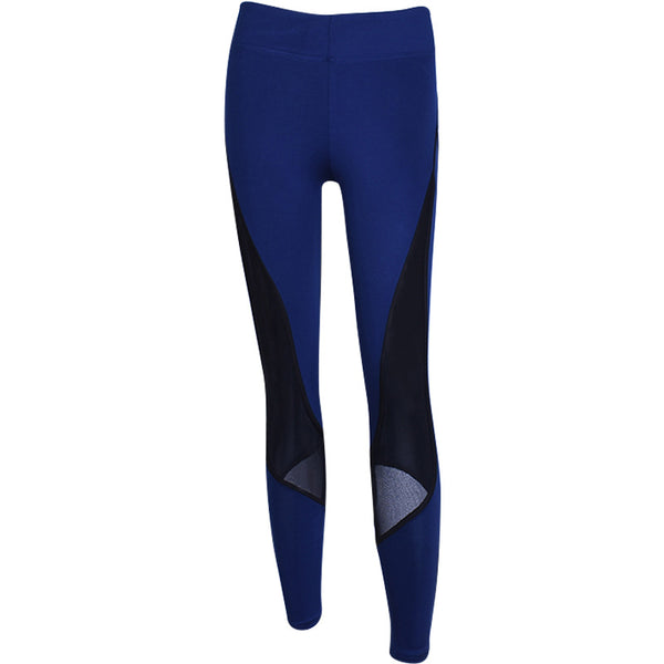 ZUMBA GIRLS MESH PANEL LEGGINGS IN DARK BLUE