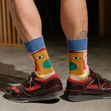 MONDAYS COLOR BLOCK CLOWN SOCKS - boopdo