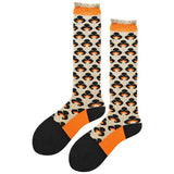 SEVEN DAYS RETRO ABSTRACT PATTERN KNEE HIGH SOCKS - boopdo
