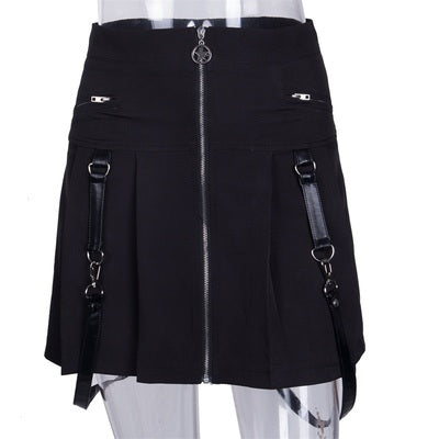 SHEFAME ZOZIYSA COSPLAY STYLE SKIRT IN BLACK - boopdo