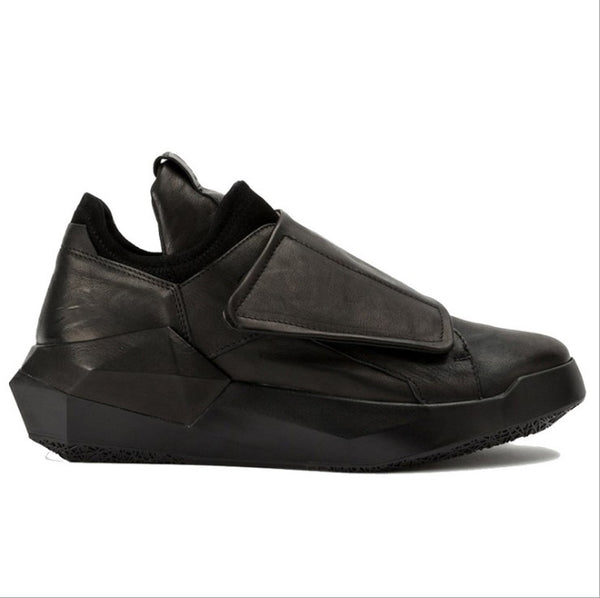MARTINTESE BATMAN PLATFORM LOW TOP LEATHER CASUAL SPORTIVE SHOES