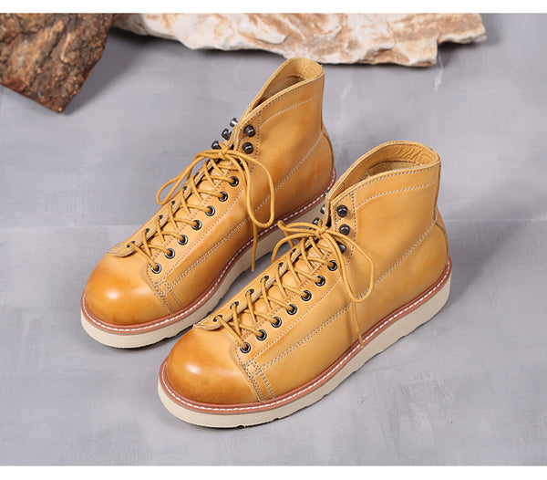 ADMIRARI BRITISH RETRO STYLE PARATROOPER HANDMADE LEATHER UNISEX SHOES