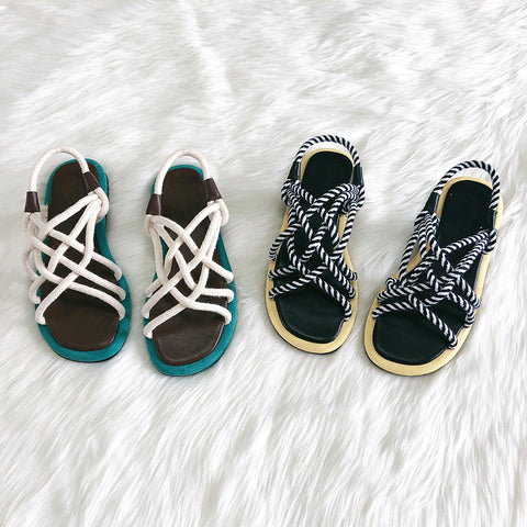 BOOPDO DESIGN CHUNKY ROPE SANDALS