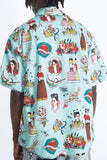 VANG OLD SCHOOL TATTOO VINTAGE MINT GREEN HAWAIIAN SHIRT