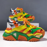 CERULEAN GAVIN CHUNKY SOLE LEATHER SANDALS IN MULTI COLOR - boopdo