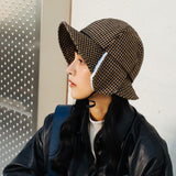 HOUNDS TOOTH EAR PROTECTION FISHERMAN WINDPROOF BELT CAP - boopdo
