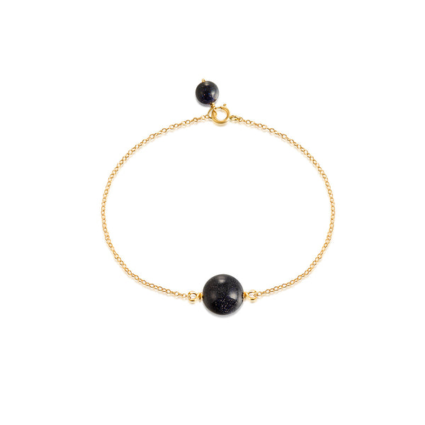 LITTLE JOYS 18K GOLD BRACELET WITH BLUE SANDSTONE DESIGN - boopdo