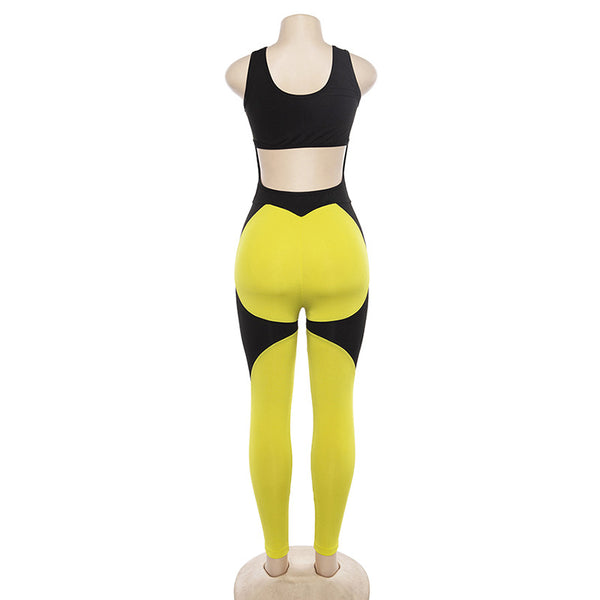 ZUMBA GIRLS OPEN BACK BODYSUIT WITH CONTRAST PANEL