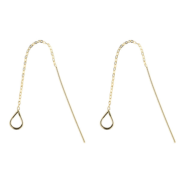 SILVER OF LIFE PULL TROUGH EARRINGS SLEEK BAR DESIGN - boopdo