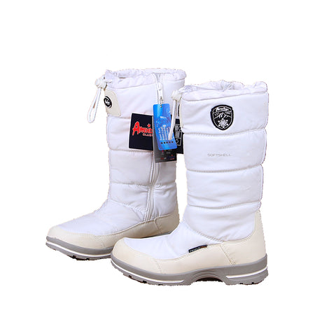 AMERICAN CLUB SOFT SHELL WATERPROOF OUTDOOR SNOW BOOTS IN WHITE