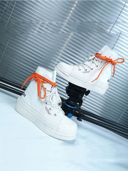JESSIE ROMAZO NANA HIGH TOP CHUNKY LEATHER SNEAKER IN WHITE - boopdo