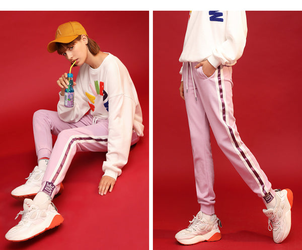 URBAN TRENDY TRACKSUIT WITH CONTRAST PANEL PINK BLUE  8914401001 - boopdo