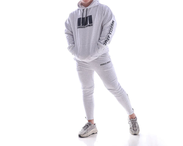 MUSCLE RANGER FITNESS BEAST ATHLETIC HOODIE WITH MATCHING PANTS - boopdo