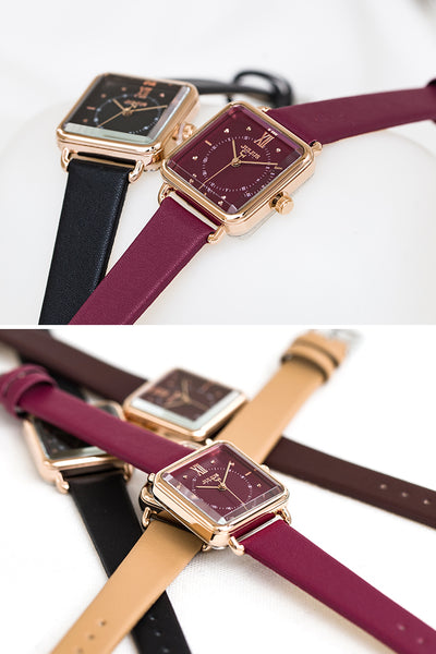 JULIUS QUARTZ LEATHER CORD STRAP WATERPROOF WATCHES - boopdo