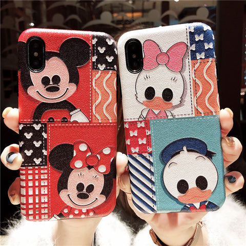 CARTOON MOUSE PRINT IPHONE MATTE PHONE CASES