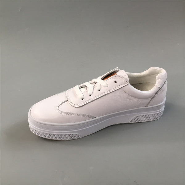 BOOPDO DESIGN WHITE LEATHER CHUNKY TRAINERS - boopdo