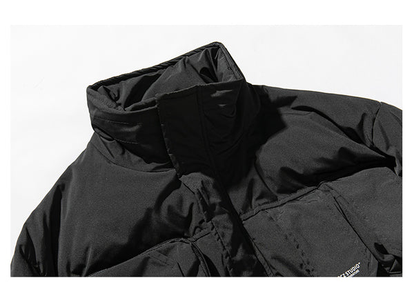 FORCHUNA CRIZZLE KOREAN URBAN STYLE HIGH NECK BOMBER JACKET - boopdo
