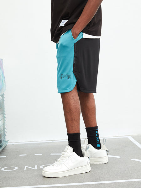 ZONOS BASKETBALL CONCEPT DESIGN BY ZONEID BREATHABLE SHORT IN BLUE BLACK - boopdo