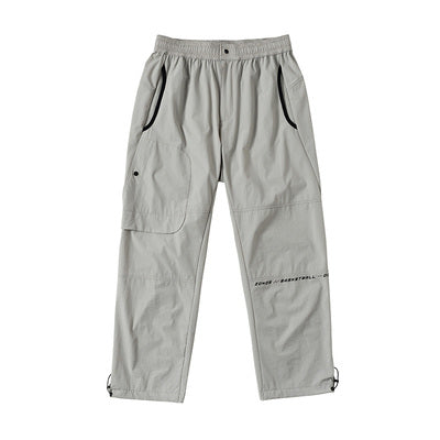 zonos basketball sportive casual tracking pants in gray and black