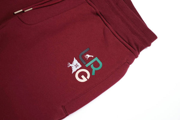 LOROG SKATEBOARD CASUAL JOGGER PANTS IN BURGUNDY - boopdo