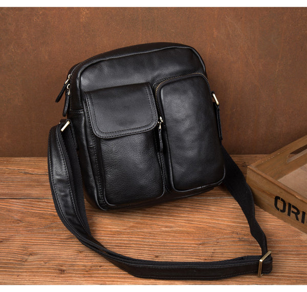 MANTIME HYPER STYLE 10 INCHES LEATHER MESSENGER BAG