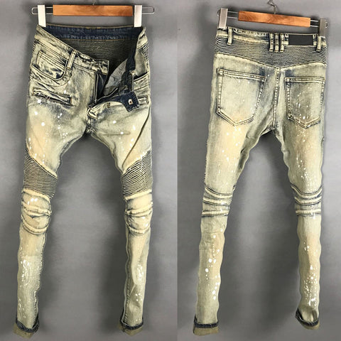 BOOPDO DESIGN WEEXEND WASHED DENIM JEAN PANTS