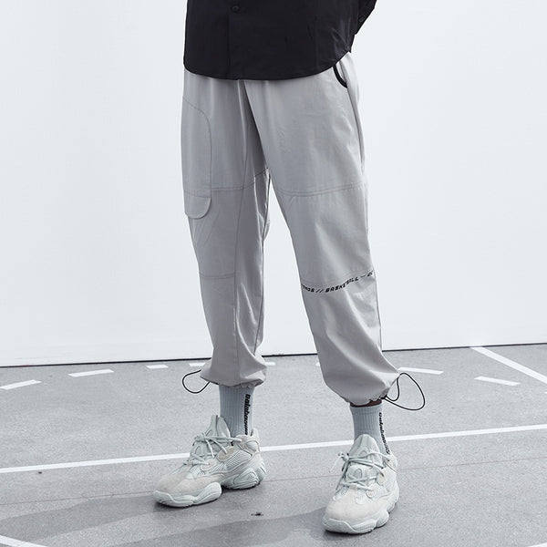 ZONOS BASKETBALL SPORTIVE CASUAL TRACKING PANTS IN GRAY
