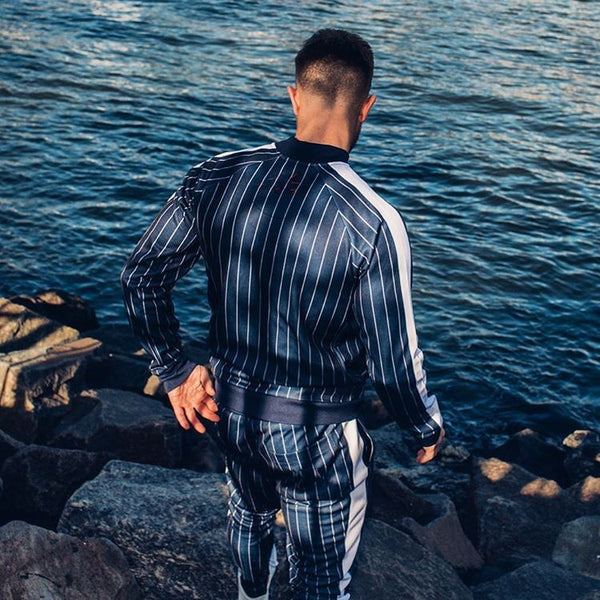 ATHLETIC MUSCLE GUY TRAINING FITNESS TRACK SUIT - boopdo