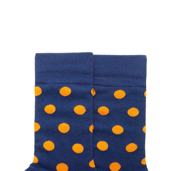 SEVEN DAYS ORANGE POLKA DOT PRINT SOCKS - boopdo