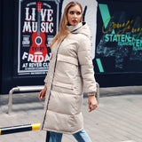 SHEFAME FRENCH STYLE PADDED COTTON LONG TRENCH COAT WITH HOODIE - boopdo