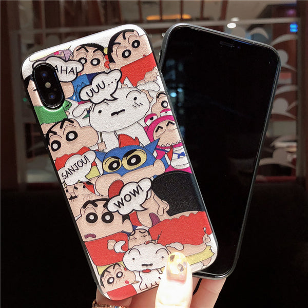 CRAYON SHINCHAN SOFT SHELL APPLE IPHONE PROTECTIVE COVER - boopdo