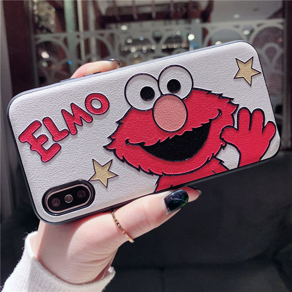 ELMOX SESAME STREET EMBOSSED CARTOON APPLE IPHONE COVERS - boopdo