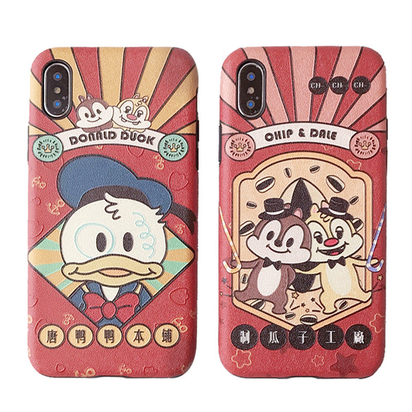 SQUIRREL DUOK CHIPPY CARTOON PRINT APPLE IPHONE CASES - boopdo