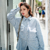 8GIRLS DESIGN OVERSIZED SHIRT WITH TASSEL DETAIL - boopdo