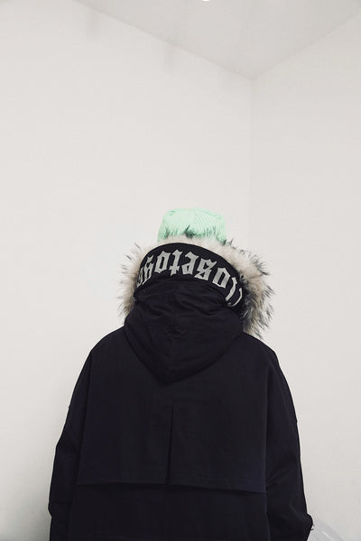 SCORPION DESIGNED BY ABOW LIVE FAUX FUR HOODIE JACKET IN BLACK - boopdo