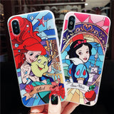 arielo smow princess cartoon rubber apple iphone covers