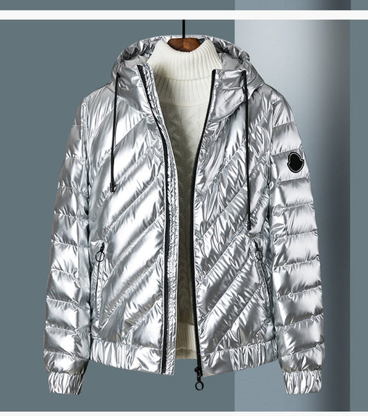 BROXIP REFLECTIVE BRIGHT HOODIE JACKETS IN SILVER AND BLACK