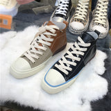 LUXE SEVEN DESIGN HIGH TOP TRAINERS - boopdo