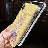 CUTIE TEDDY BEARS CARTOON EMBOSSED SILICONE APPLE IPHONE COVERS - boopdo