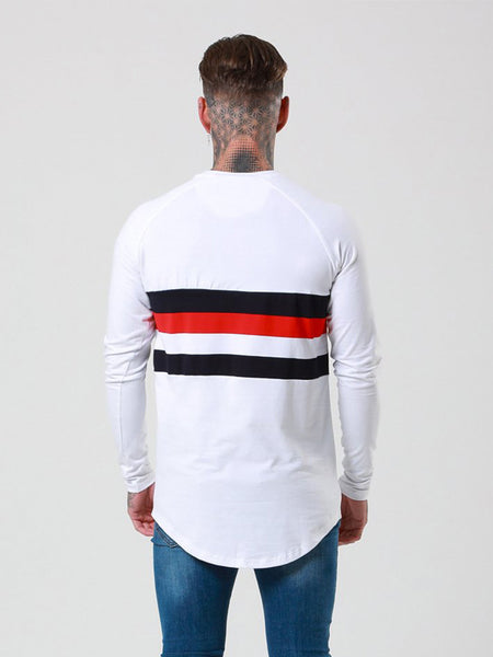 ZEZILA MAN CONCEPT BLAX CREW NECK TEE SHIRT WITH STRIPED
