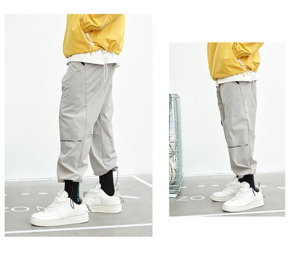 ZONOS BASKETBALL SPORTIVE CASUAL TRACKING PANTS IN GRAY - boopdo